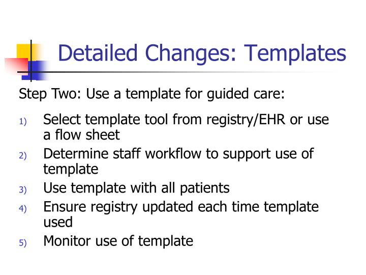 Detailed Changes: Templates