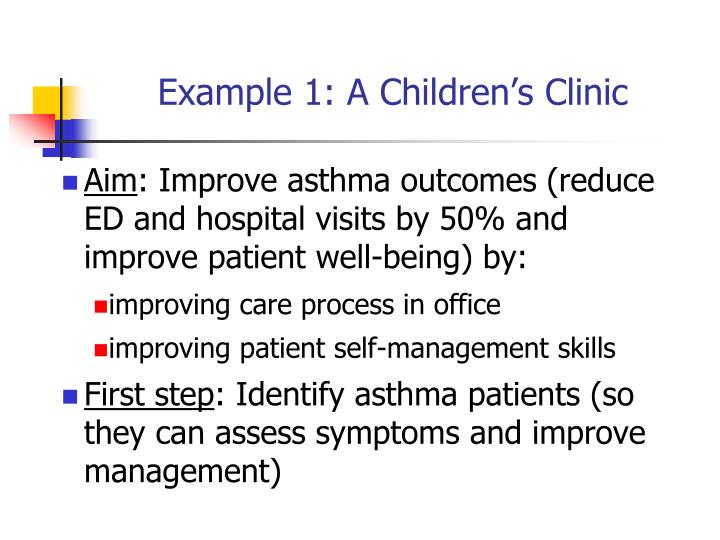 Example 1: A Children's Clinic