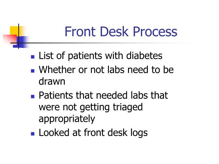 Front Desk Process