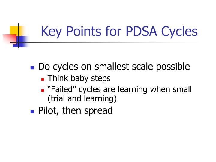 Key Points for PDSA Cycles