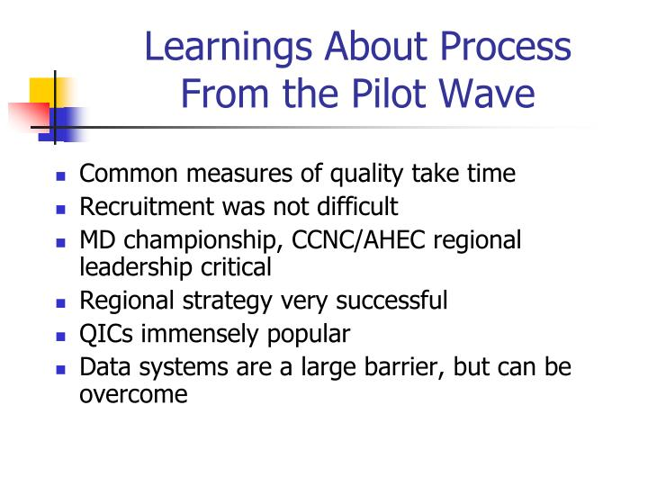 Learnings About Process