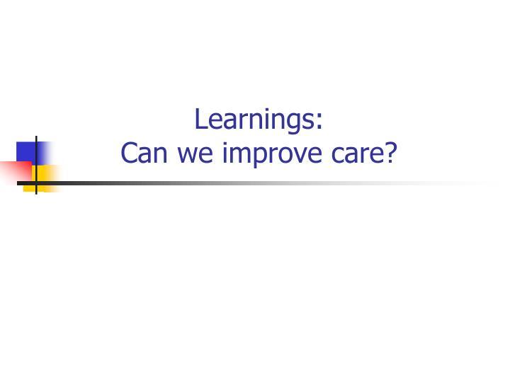 Learnings:
