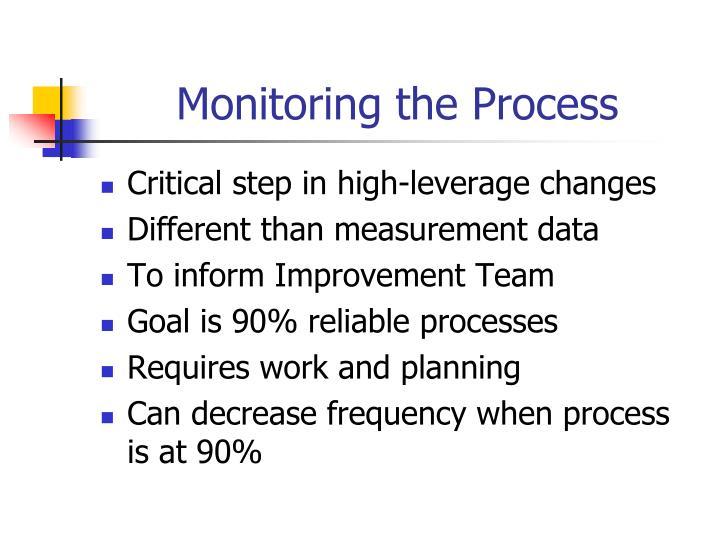 Monitoring the Process