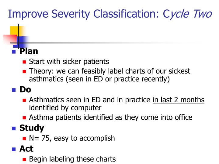 Improve Severity Classification: C
