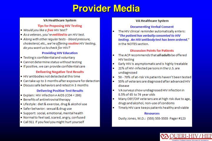 Provider Media