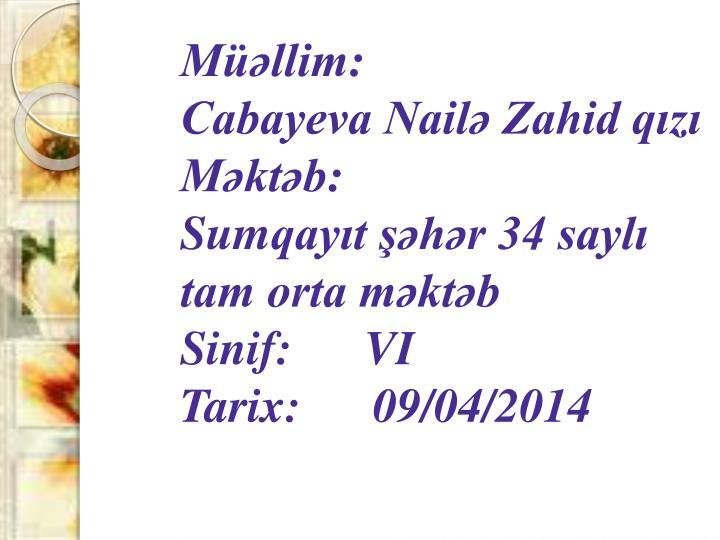 Müəllim: