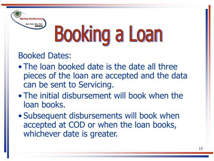 Booking a Loan