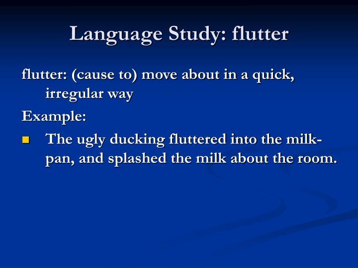 Language Study: flutter