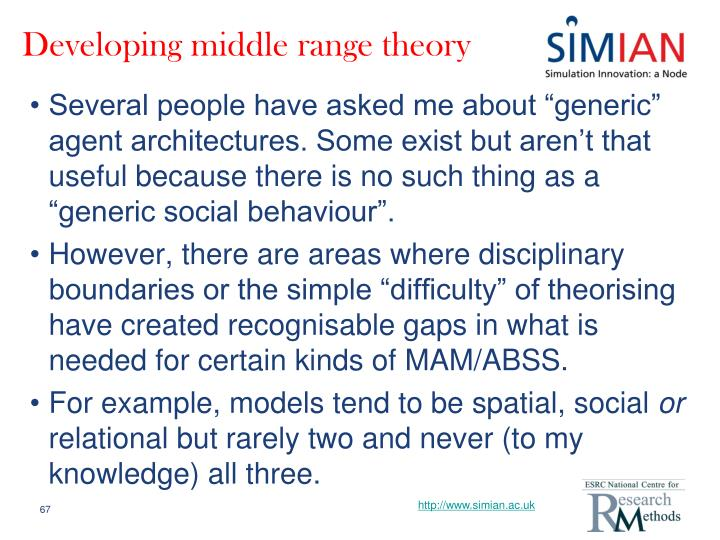 Developing middle range theory