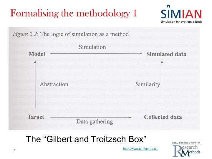 Formalising the methodology 1