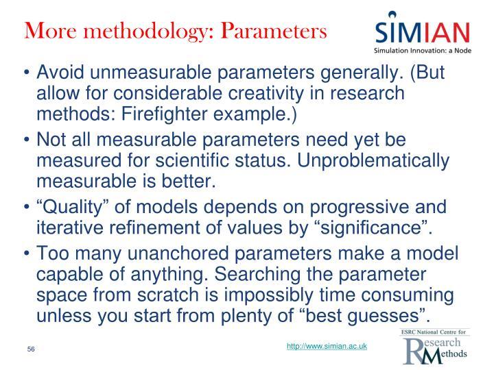 More methodology: Parameters