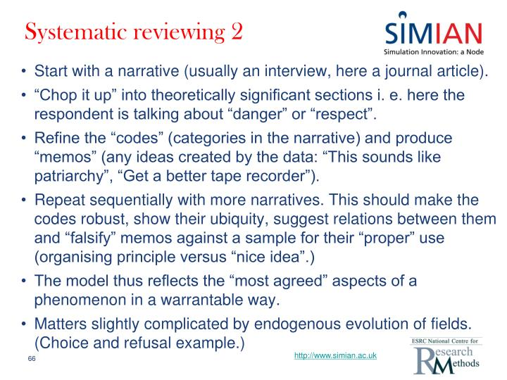 Systematic reviewing 2
