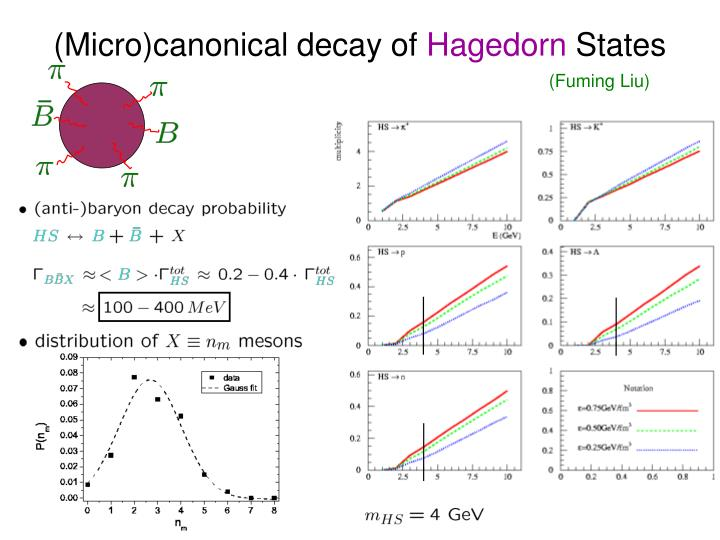 (Micro)canonical decay of