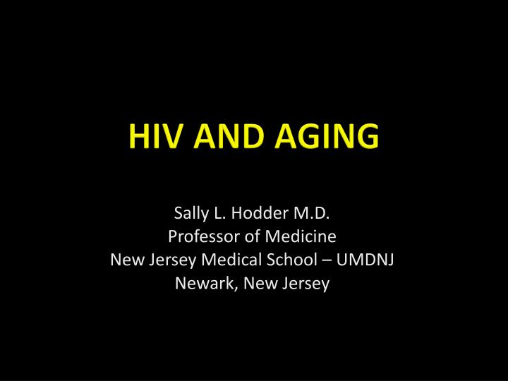 hiv and aging n.