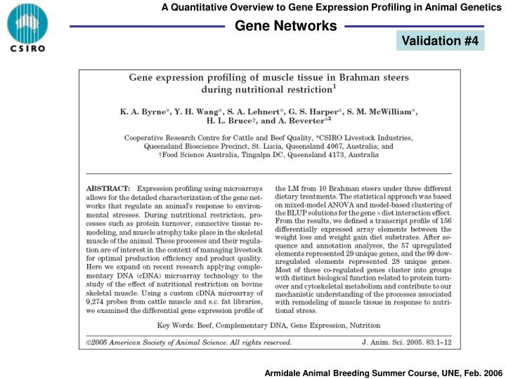 A Quantitative Overview to Gene Expression Profiling in Animal Genetics