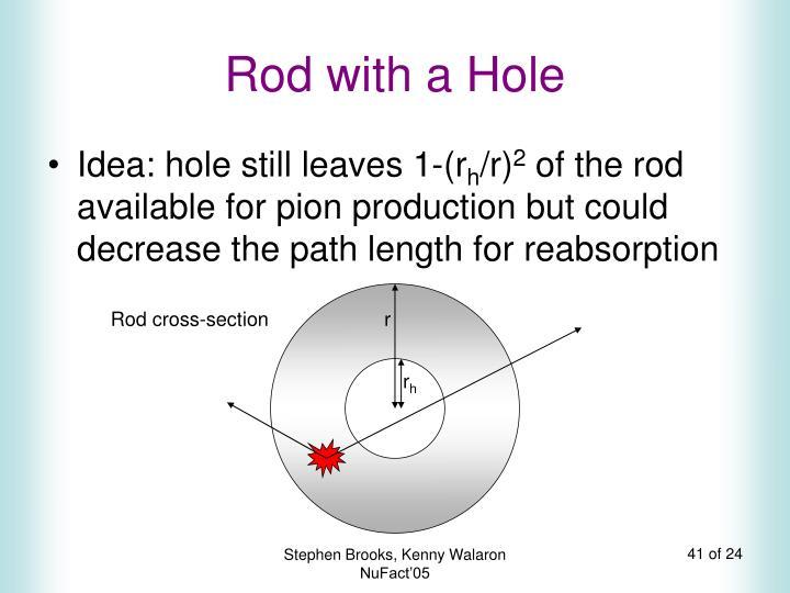 Rod with a Hole