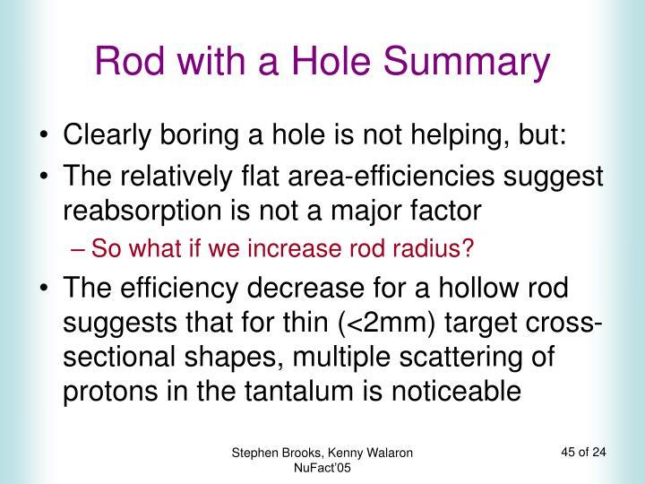 Rod with a Hole Summary