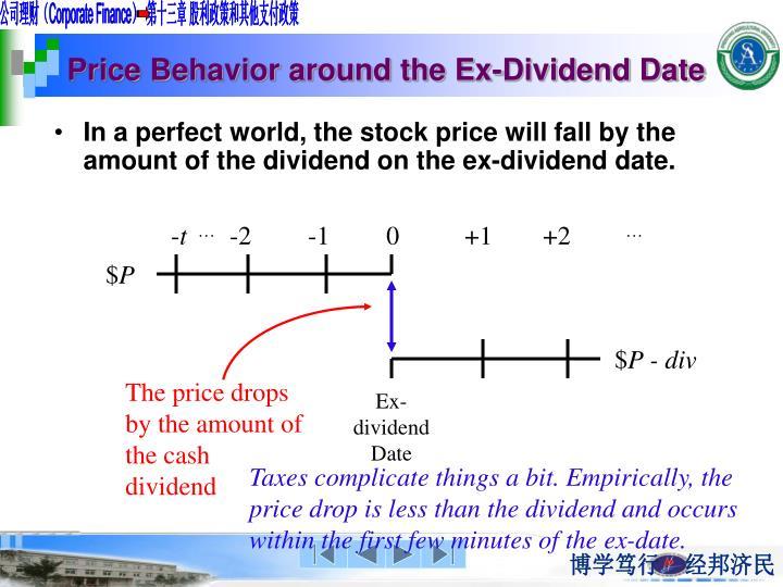 Price Behavior around the Ex-Dividend Date