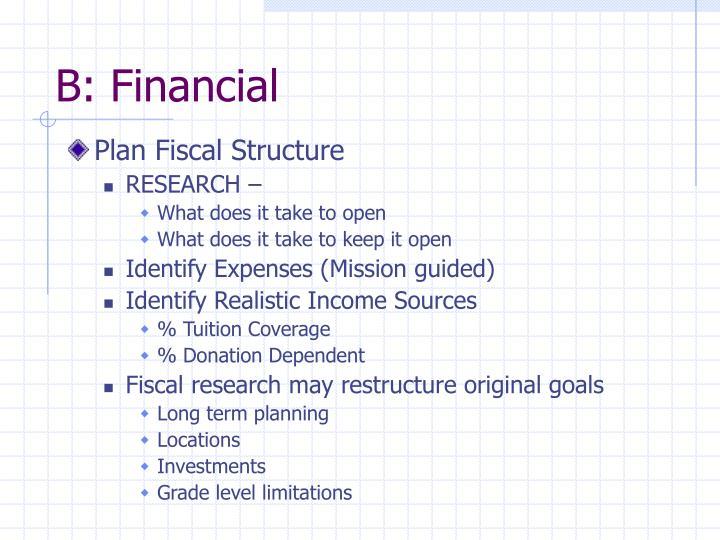 B: Financial
