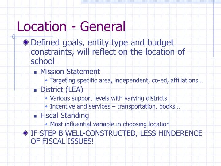 Location - General
