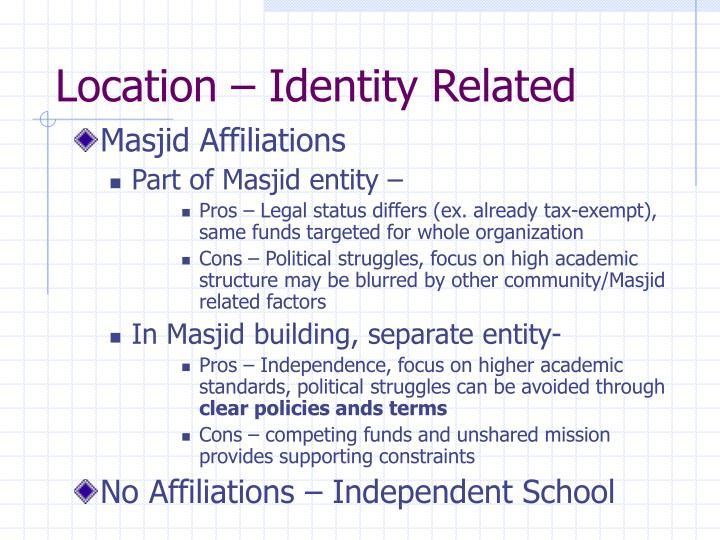 Location – Identity Related