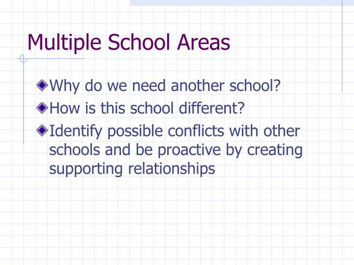 Multiple School Areas