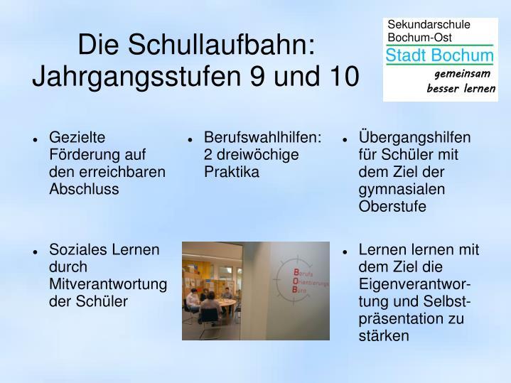 Die Schullaufbahn: