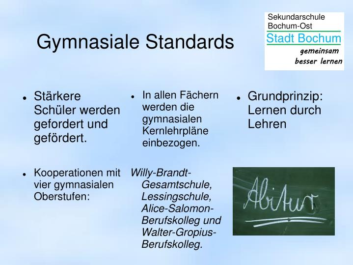 Gymnasiale Standards