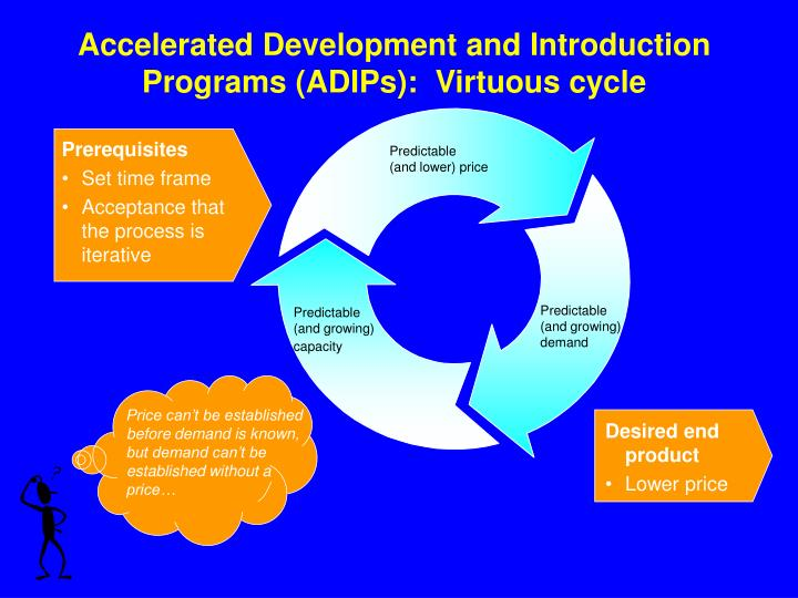 Accelerated Development and Introduction Programs (ADIPs):  Virtuous cycle