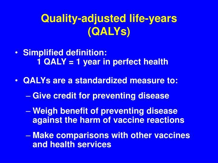 Quality-adjusted life-years (QALYs)