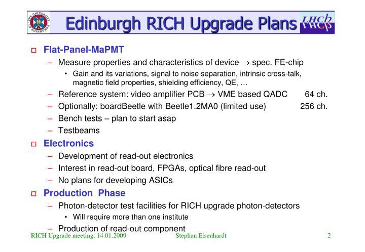 Edinburgh rich upgrade plans1