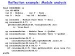 reflection example module analysis