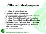 stba individual programs