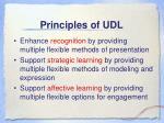 principles of udl