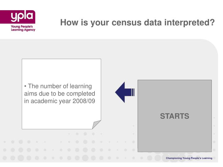 How is your census data interpreted?
