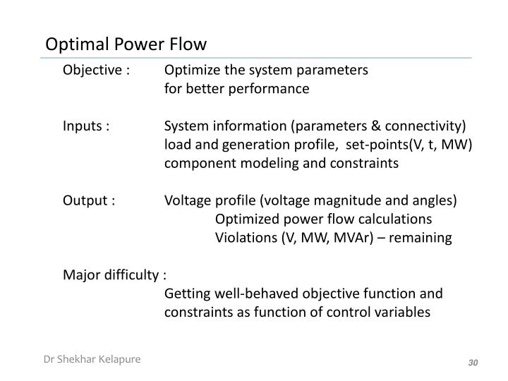 Objective : Optimize the system parameters