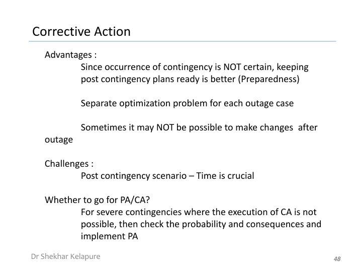 Advantages :