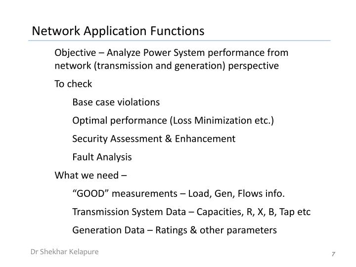 Network Application Functions