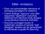 ebm limitations2