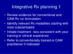 integrative rx planning 1