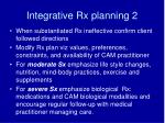 integrative rx planning 2