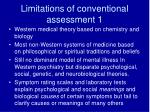 limitations of conventional assessment 1
