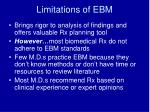 limitations of ebm