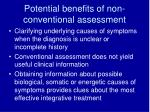 potential benefits of non conventional assessment