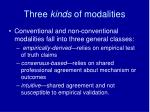 three kinds of modalities