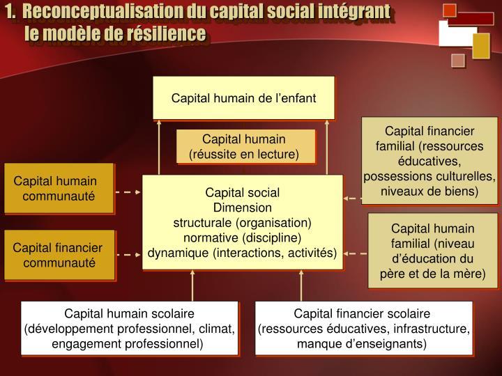 1 reconceptualisation du capital social int grant le mod le de r silience