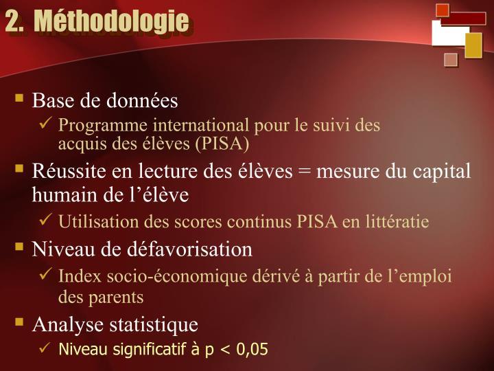 2.  Méthodologie