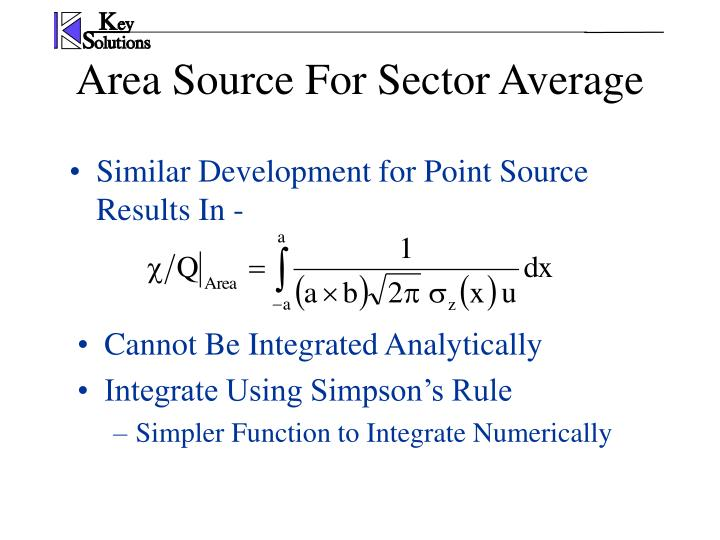 Similar Development for Point Source Results In -