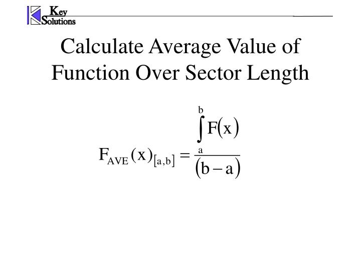 Calculate Average Value of Function Over Sector Length