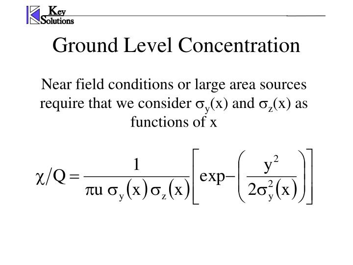 Ground Level Concentration